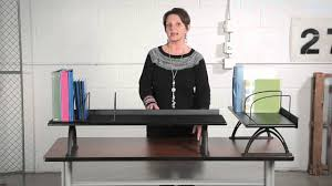 Sit To Stand Desk Ikea by Safco Desk Risers Youtube