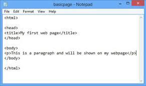 html layout under notepad and wysiwyg