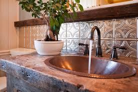 tin tile back splash copper backsplashes for kitchens decorating creating breezy kitchen design using tin backsplash