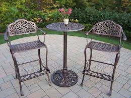 patio bar furniture sets amazon com oakland living mississippi cast aluminum 3 piece bar
