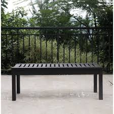 Outside Bench Better Homes And Gardens Delahey Backless Outdoor Garden Bench