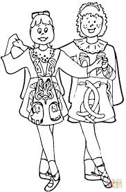 irish dance coloring page free printable coloring pages