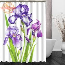 iris flowers iris flowers shower curtain eco friendly modern fabric polyester