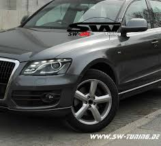 Audi Q5 8r - sw drl headlights for audi q5 type 8r 08 12 led drl r87 black