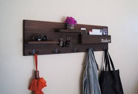 Backpack Hooks For Home by Large Entryway Coat Rack Wall Mounted With Mail Storage Coat Hooks