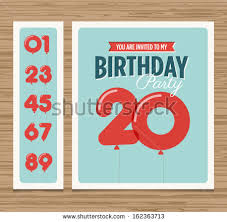 many stock birthday party invitation card vector creation birthday party invitation card balloons numbers stock vector