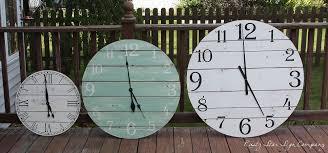 handcrafted rustic wooden wall clocks rustystarsignco com