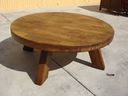 rustic round coffee table with 4 wedge stools new lighting