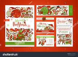 set corporate christmas templates vector design stock vector