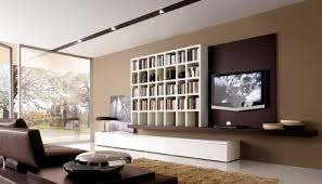 wohnzimmer in braun und weiss wohnzimmer modern einrichten wandfarbe braun weisse akzente