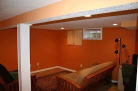 Ideas For Remodeling Basement Interior Orange Basement Remodeling Ideas With Black Floor L