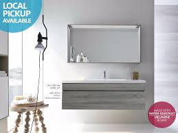 melamine bathroom cabinets asti 1200mm light grey oak timber wood grain wall hung vanity
