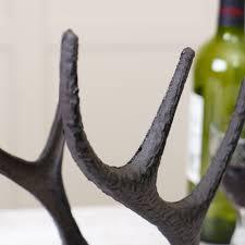 cast iron stag u0027s antlers wine rack