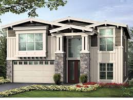 unique floor plan with living spaces upstairs hwbdo55322 craftsman