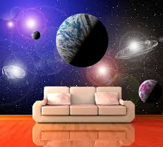 free cheap wall decoration ideas precious home design planets universe decorating wallpaper mural art 8 free delivery