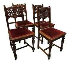 Dining Room Chairs Set Of 4 Antique Victorian Dining Room Chairs Set Of 4 Chairish Hd 8011