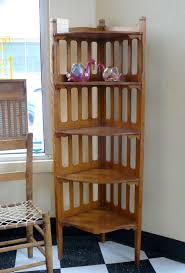 Wood Corner Shelf Design by Furniture Classic Style Wood 5 Tiered Corner Shelf Unit For