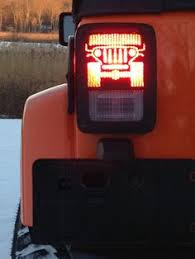 custom jeep tail light covers my yeti 45 with custom jeep logo what a great way to personalize