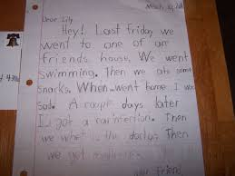 jacob u0027s second grade year writing a friendly letter