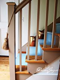 Painted Banisters The Bonus Room Stairs Painted Daisey Jayne