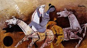 Image Gallery Controversial Paintings - m f husain at spear art museum online gallery of famous paintings