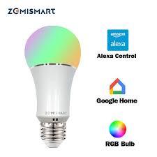alexa controlled light bulbs dimmable e27 wifi rgb led bulb light voice control by alexa echo