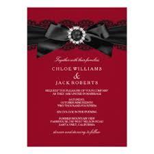 Red Wedding Invitations Red Black Wedding Invitations U0026 Announcements Zazzle