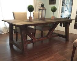 design kitchen with rustic farmhouse dining table