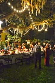 backyard party decorating ideas christmas lights decoration