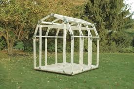 Greenhouse Gazebo 2x4 Basics Barn Roof 7 Ft W X 8 Ft D Metal Storage Shed