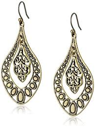 earrings brand lucky brand gold filigree oblong earrings jewelry