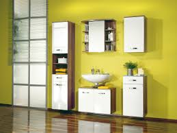 beautiful yellow bathroom horrible home chic yellow bathroom wall colour idea with modern storage furniture set design also narrow tall window