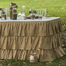 Pleated Table Covers Amazon Com Tiered Ruffle Burlap Table Skirt Industrial U0026 Scientific