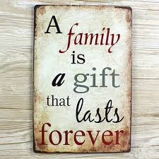 retro poster family forever wall sticker metal tin signs wall