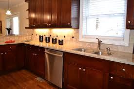 kitchen ideas with cherry cabinets kitchen amusing kitchen backsplash cherry cabinets white counter