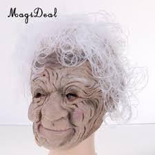 old lady halloween mask online get cheap old woman halloween mask aliexpress com