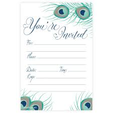 peacock invitations bridal shower invitations m h invites