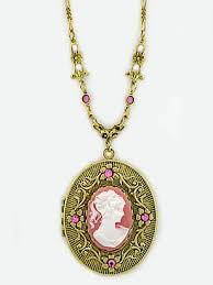cameo antique necklace images Jewelrymine vintage style cameo locket necklaces wholesale jpg