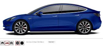 tesla model 3 tesla model 3 in any color you want interactive website