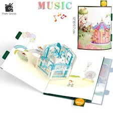 musical cards aliexpress buy anime postcards handmade 3d pop up musical