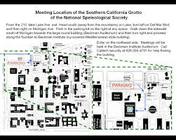 Caltech Campus Map Southern California Grotto Nss