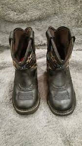 justin light up boots boys black leather justin western cowboy boots size 11d with stars