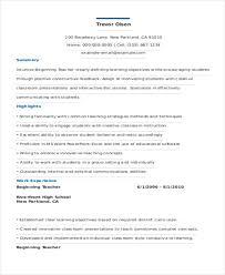 Beginning Teacher Resume Examples by 25 Teacher Resume Formats Free U0026 Premium Templates