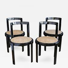 Black Lacquer Dining Room Chairs Thonet Thonet Black Lacquer U0026 Cane Dining Chairs