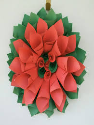 red and green cone wreath christmas decoration for your door