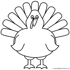 turkey coloring page thanksgiving