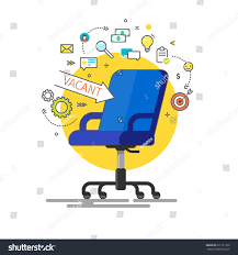 Office Chair Clipart Concept Business Hiring Recruiting Office Chair Stock Vector