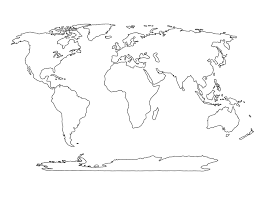World Map Black And White World United Black And White Clipart Collection