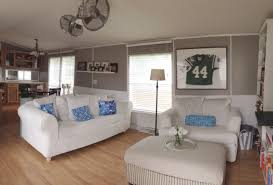 single wide manufactured mobile home remodel makeover living room