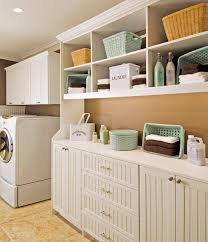White Cabinets For Laundry Room Luxurious Traditional Laundryroom Beadboard Cabinets With White